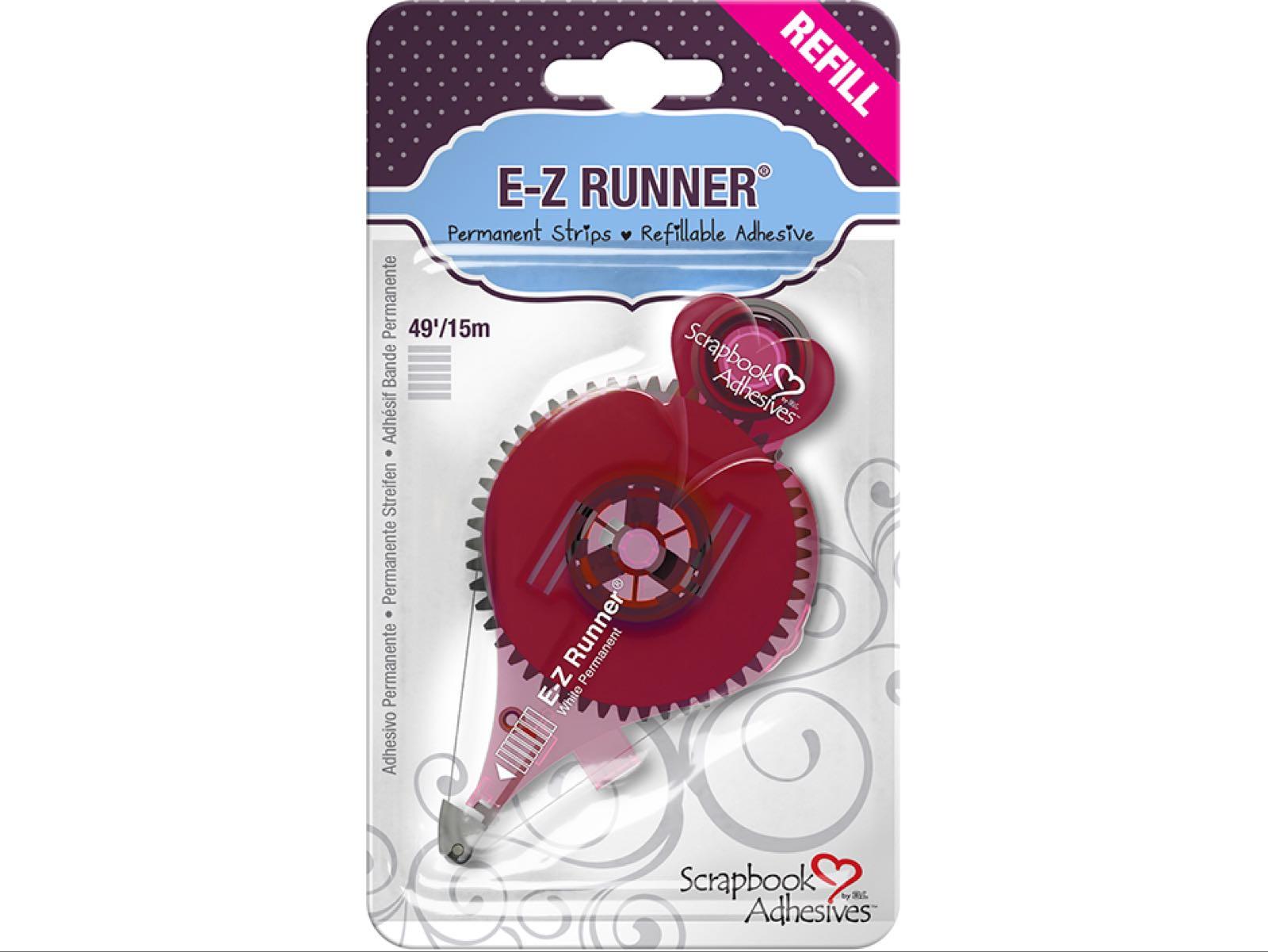 E-Z runner strips refill, permanent adhesive