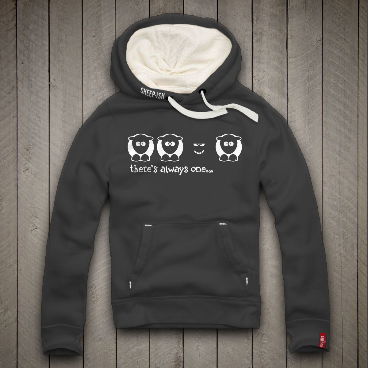 There's Always One Smile Hoodie (Dusty Black)