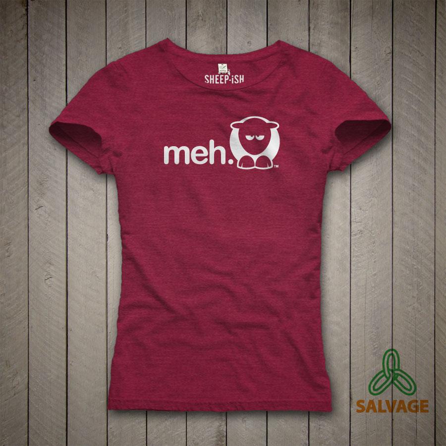 Meh Ladyfit T-Shirt (Plum)