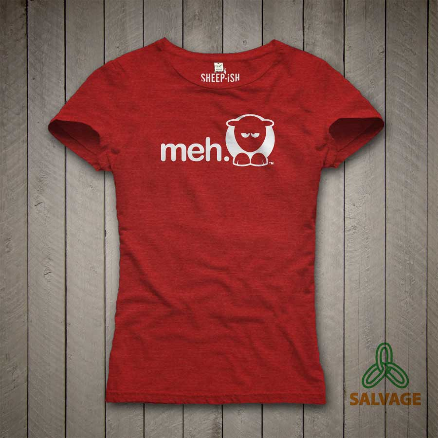 Meh Ladyfit T-Shirt (Red)