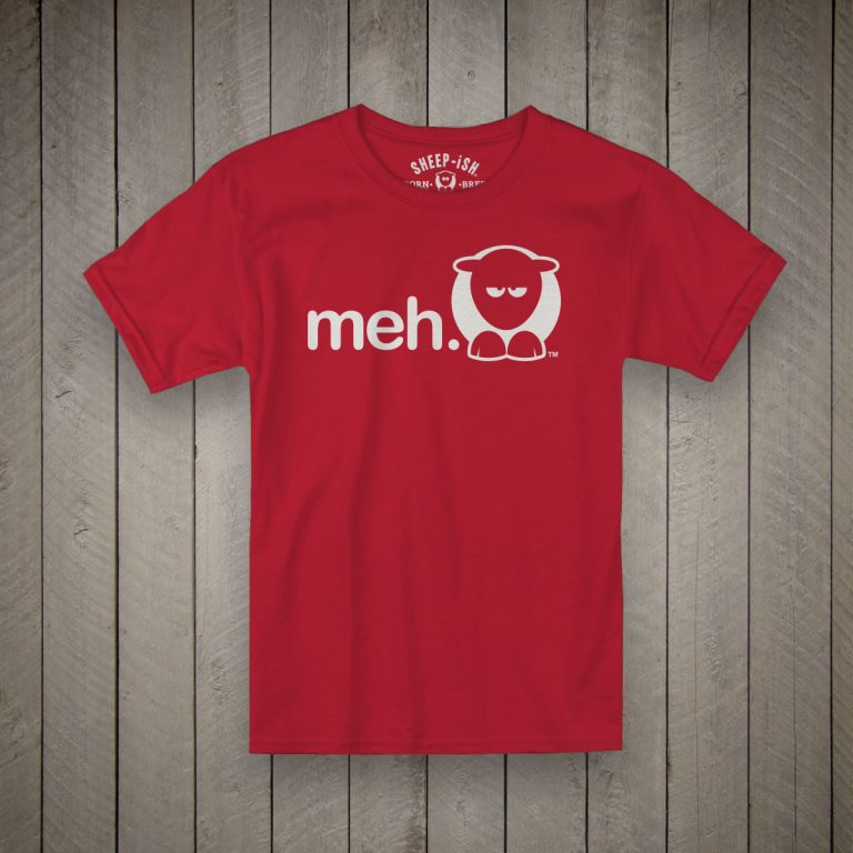 Meh Kids T-Shirt (Red)