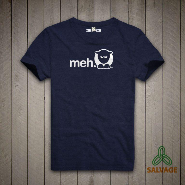 Meh Unisex T-Shirt (Navy)