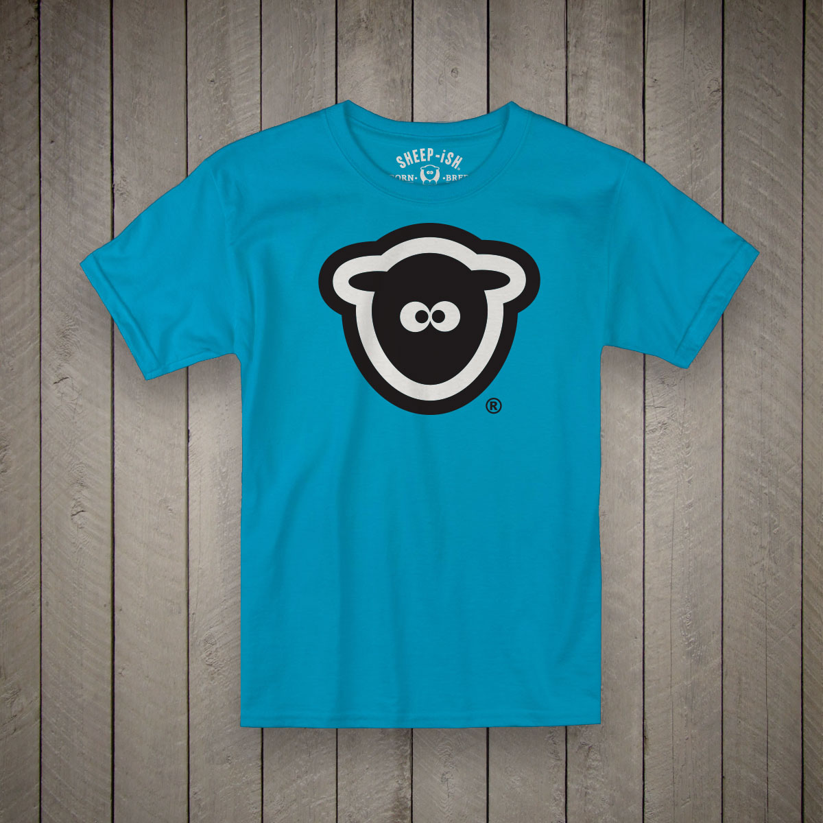Sheep Head T-Shirt (Blue)