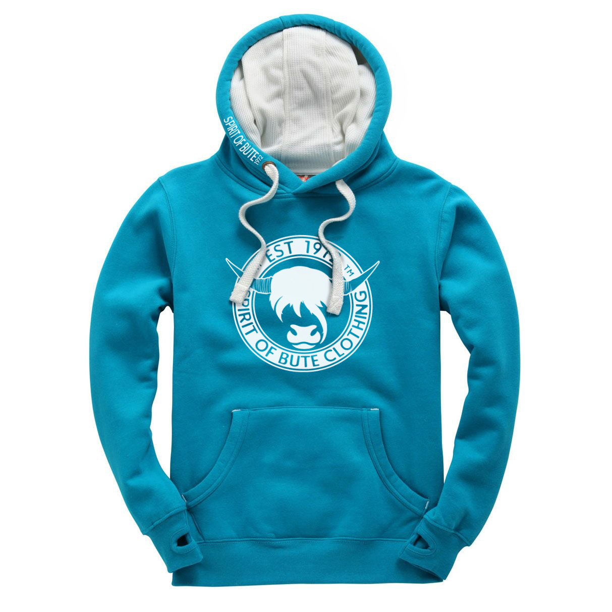 Spirit of Bute Clothing Hoodie (Caribbean Blue)