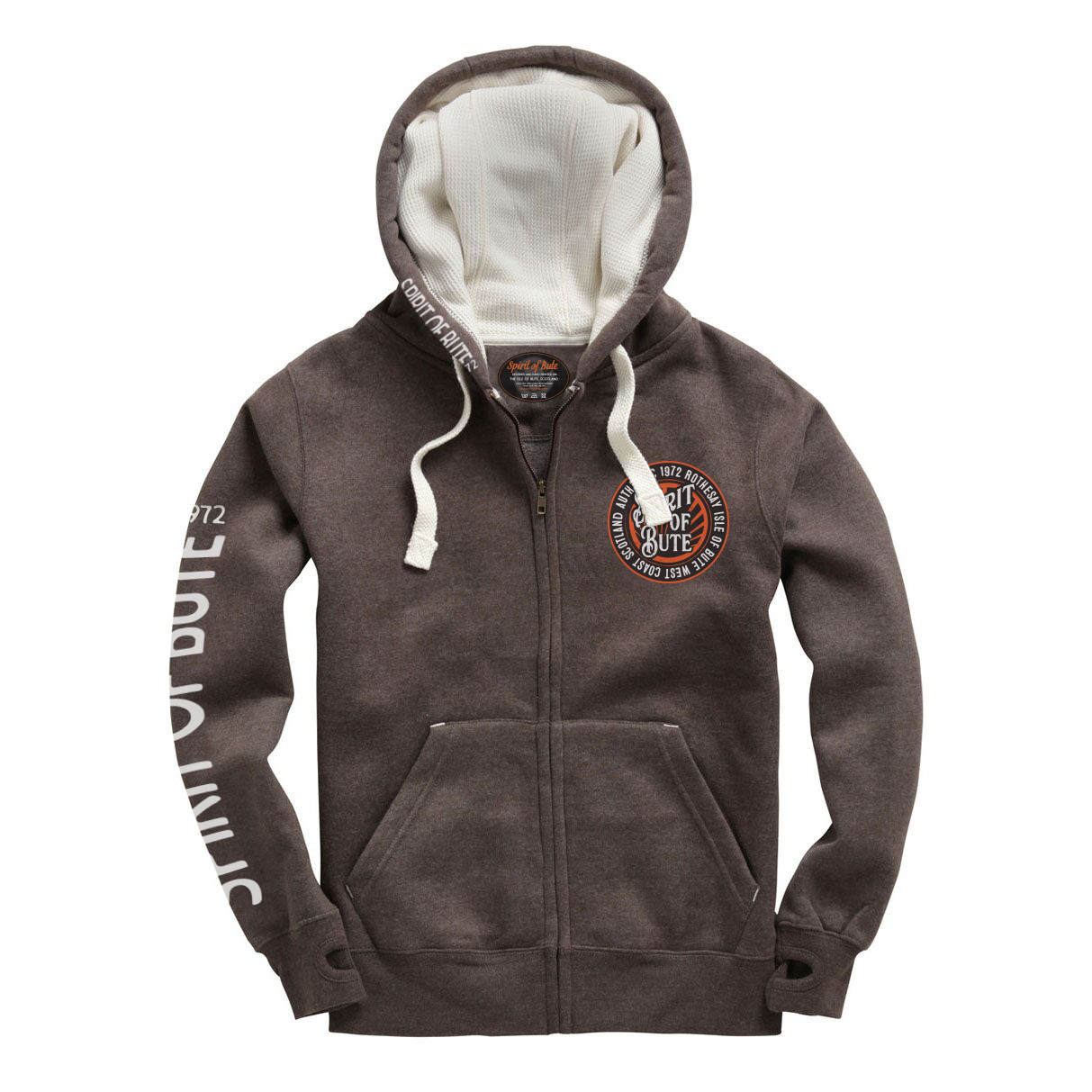 Spirit of Bute Zip Hoodie (Marl Grey)
