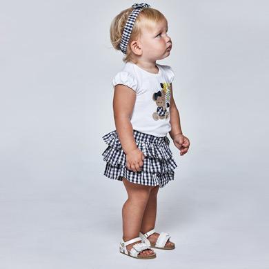 MAYORAL BABY GIRL Set Vichy Ruffle Shorts 1235-092