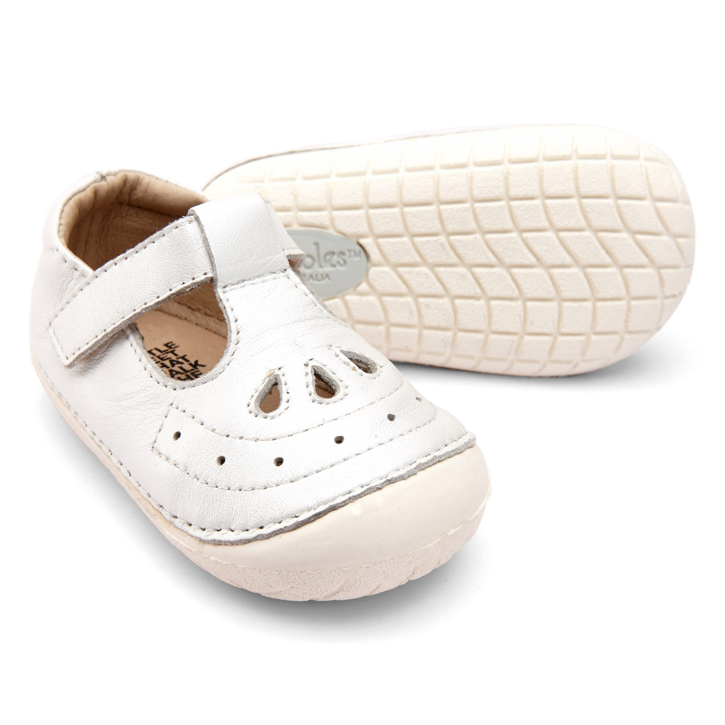 OLD SOLES GIRLS Royal Pave White T-Bar 4022