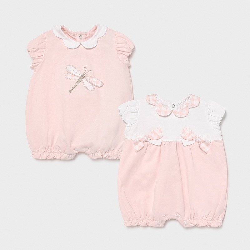 MAYORAL NEWBORN GIRL Set of Two Knitted Pyjamas 1606-065