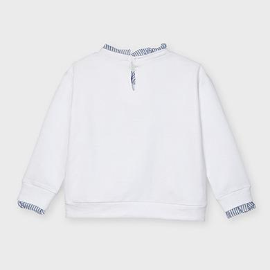 MAYORAL GIRLS Sweatshirt 'Amazing' White 3475-44