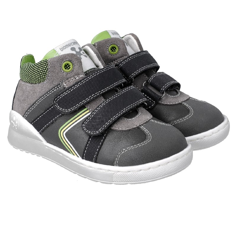 BIOMECANICS BOYS Grey and Green Ankle Boots 201214