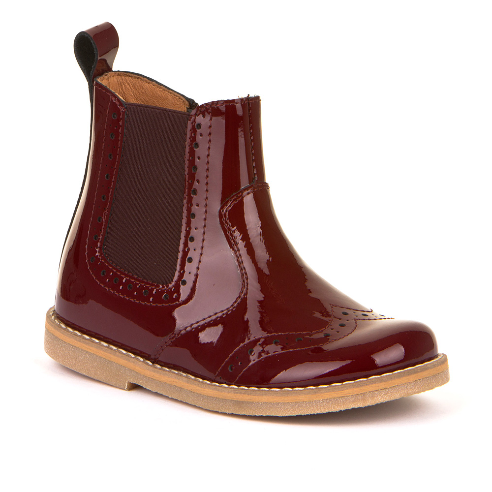 FRODDO Girls Chelsea Boots Wine Patent  G3160119-15 NOW £39.95
