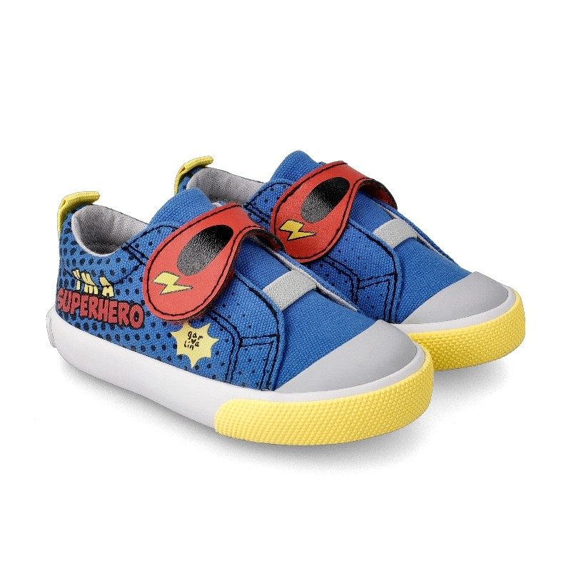GARVALIN 'Superboy' Canvas Trainers 212803