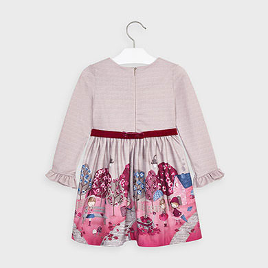 MAYORAL Girls Dress Autumn Cherry 4981-031