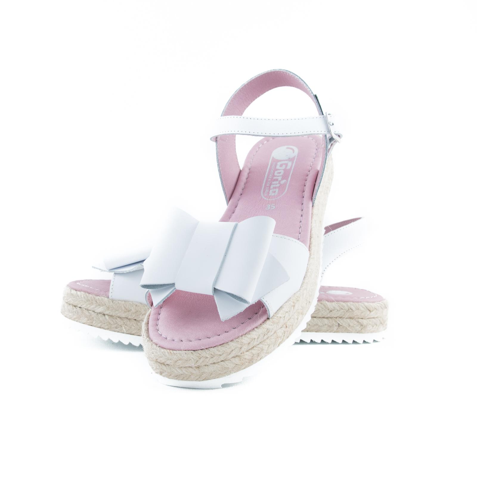 GORILA Sandals Big Bow White 42400