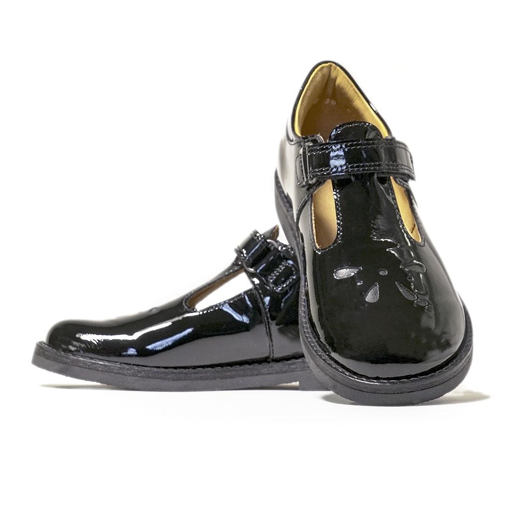 School Shoes FRODDO GIRLS T-Bar Patent G3140073-1