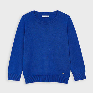 MAYORAL Boys Jumper Crew Neck Blue 311-031 NOW £11.50
