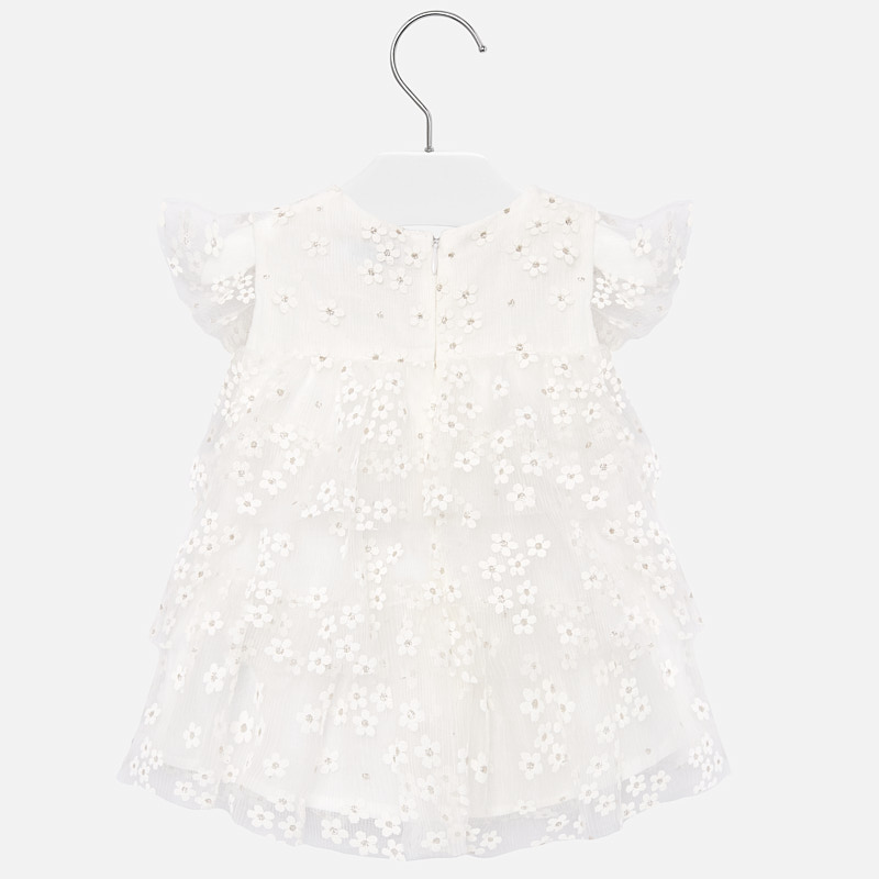 MAYORAL BABY Girl Dress Flowers Tulle Natural 1909