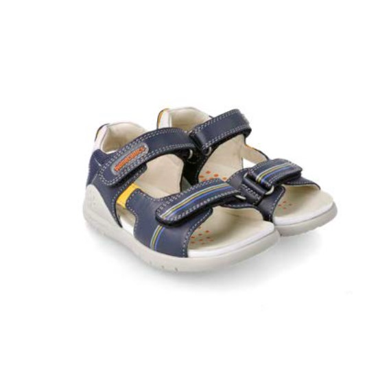 BIOMECANICS BOYS Navy Leather Sandals 212191A