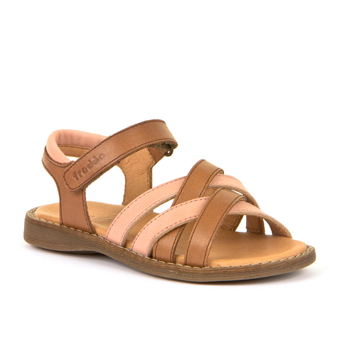 FRODDO Girls Sandals Brown/Dusty Pink G3150149-6 LAST PAIR