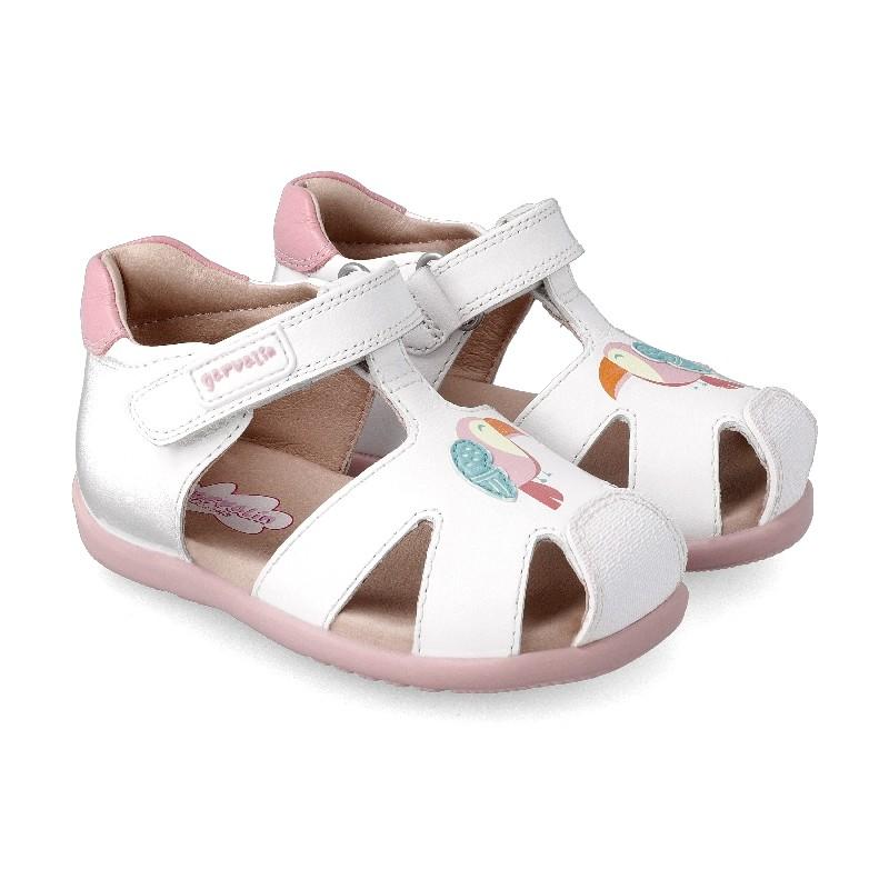 GARVALIN GIRLS Closed Sandals 'Parrot' 212306-A