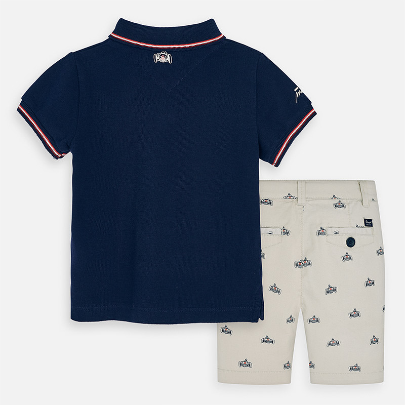 MAYORAL Boys Shorts-Printed/polo shirt Set 3270-010