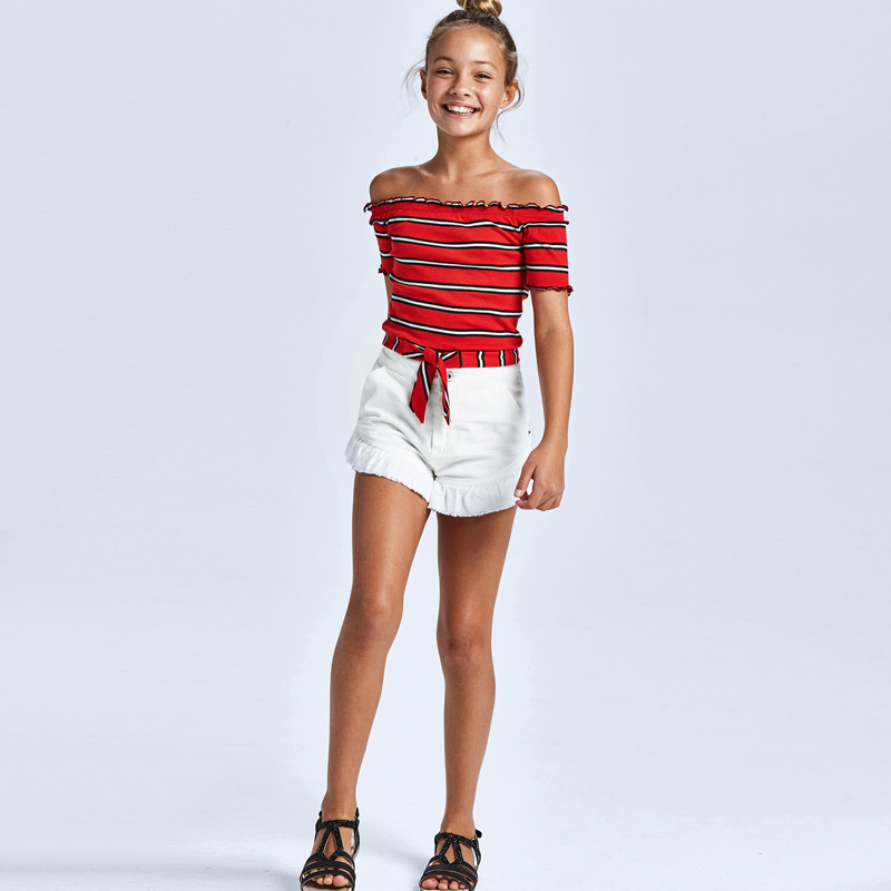 MAYORAL TEEN GIRL White Twill Short 6270-021