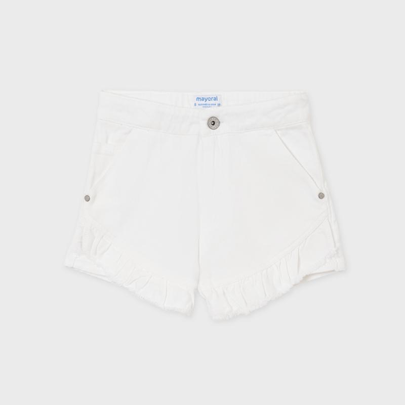 MAYORAL TEEN GIRL White Twill Short 6270-021