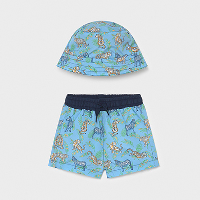 MAYORAL BABY BOY Set Swimwear and Hat 1666-021 NEW SEASON