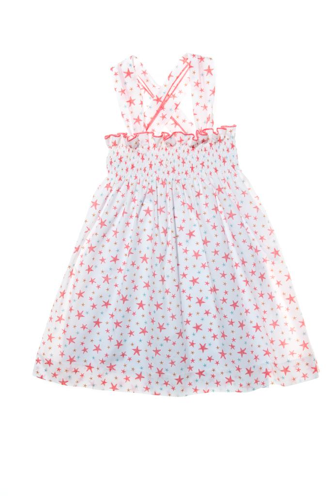LAPEKI Girls Dress Starfish Older Girls
