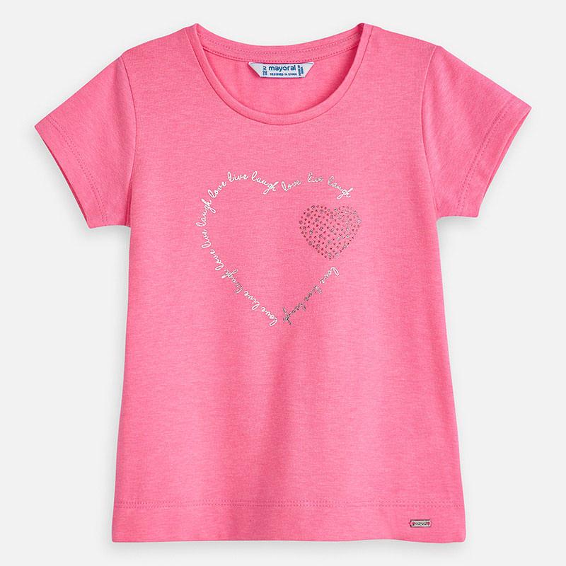 MAYORAL Girls T-Shirt Bubblegum Pink 174-094. Before £10.80
