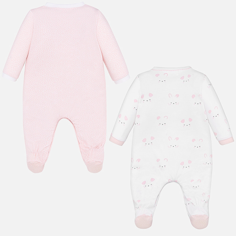 MAYORAL BABY Girl Set Bunny and Bear Pyjama Set Pink 1769-33