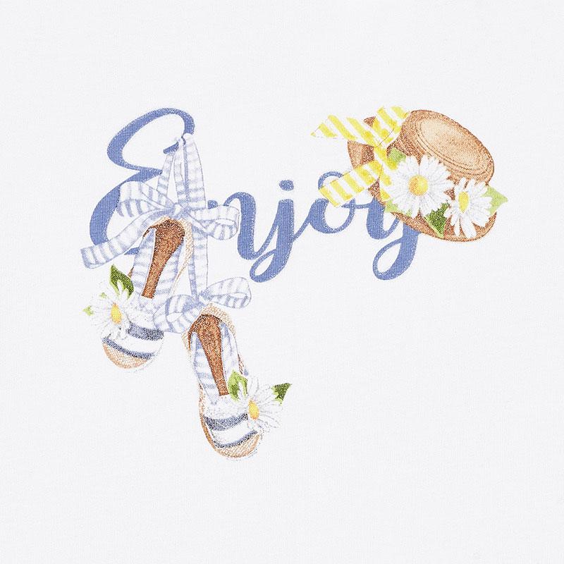 """MAYORAL Girls T-Shirt sleeveless """"Enjoy"""" White 3024-059"""