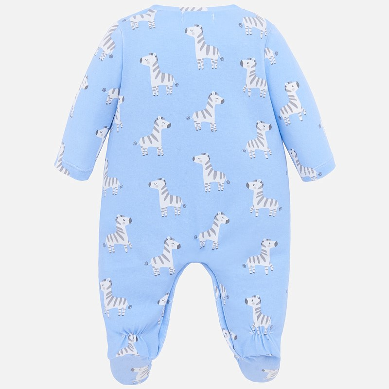 MAYORAL Baby Boy Zebra Long Pyjamas + bib, hat and bag  Blue 1778