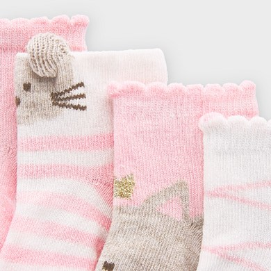 MAYORAL Girls Socks Set 4 pairs 9306-60 NOW £4.95
