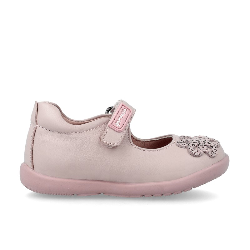 GARVALIN Girls Mary Jane Pink Flower 191335 NOW £20_Last Pair