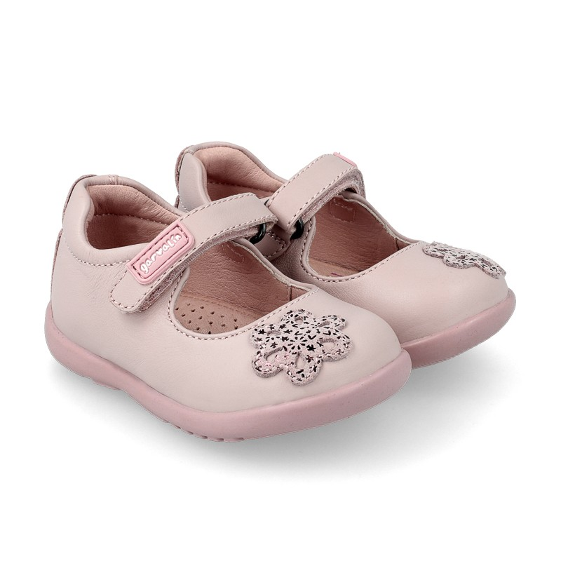 GARVALIN Girls Mary Jane Pink Flower 191335 LAST PAIR