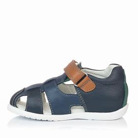 Garvalin Navy and brown sandals 192347