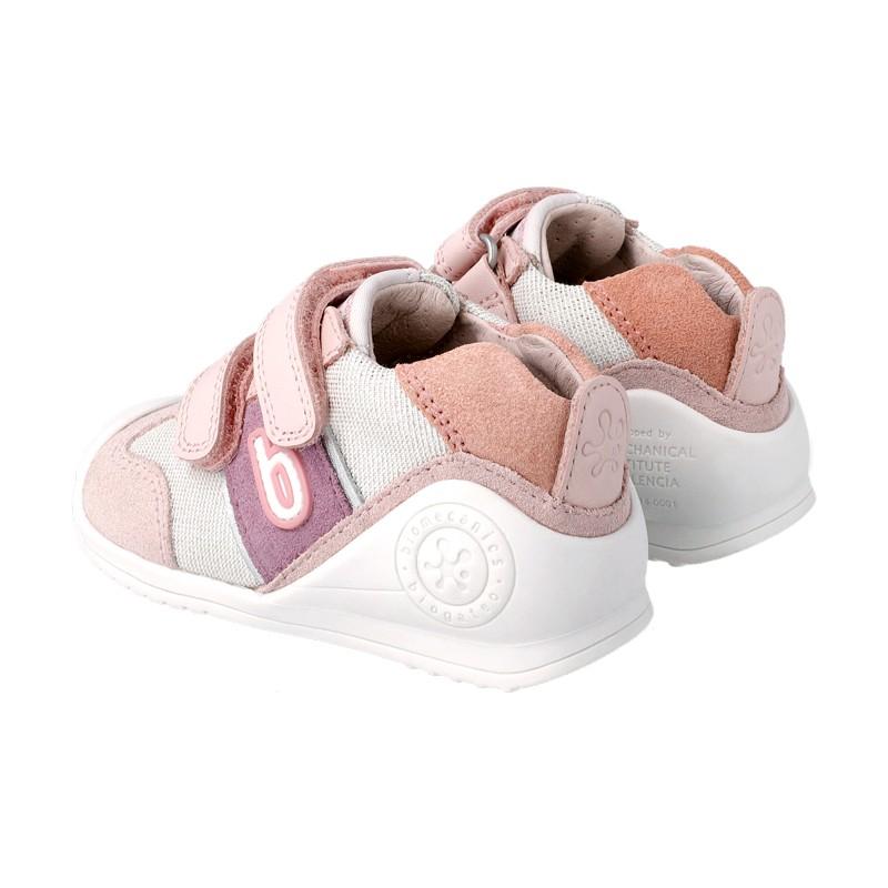 BIOMECANICS GIRLS Pearl and Pink Trainers 212123-B