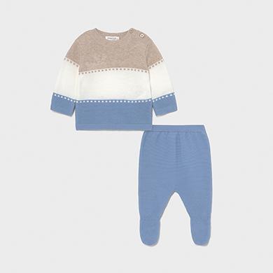 MAYORAL NEWBORN BOY Ecofriends Tricot Leg Set 1565-007 NEW SEASON