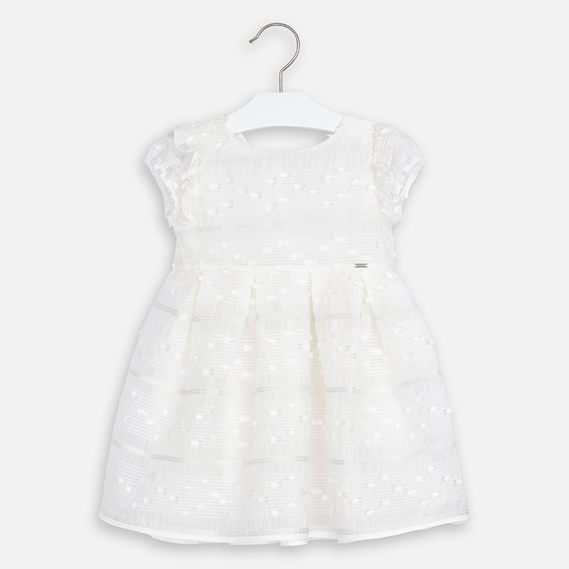 MAYORAL Girls Dress Ceremony White 3919-11