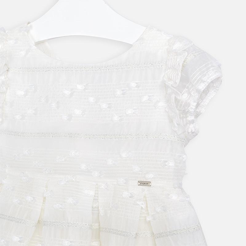 MAYORAL Girls Dress Ceremony White 3919-11