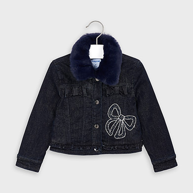 MAYORAL Girls Denim Jacket Navy 4406-052 NOW £19.95