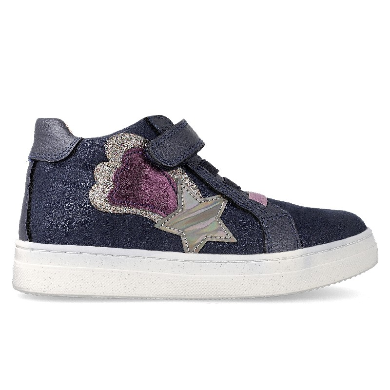 GARVALIN Girls Ankle Boots Shooting star Navy/Pink 201636-A NOW £35.95