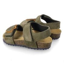 GARVALIN BOYS Kaki Sandals with Velcro 212660-B