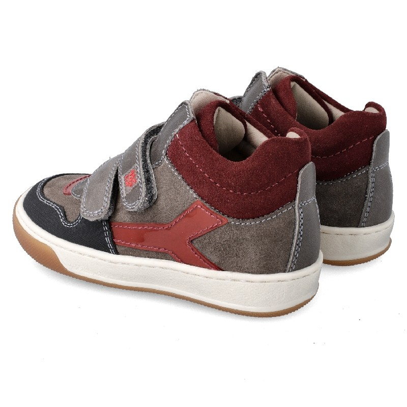 GARVALIN Boys Ankle Boots Grey and Red 201452-B NOW £39.95
