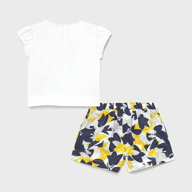 MAYORAL BABY GIRL Flower and Shorts Set 1234-010