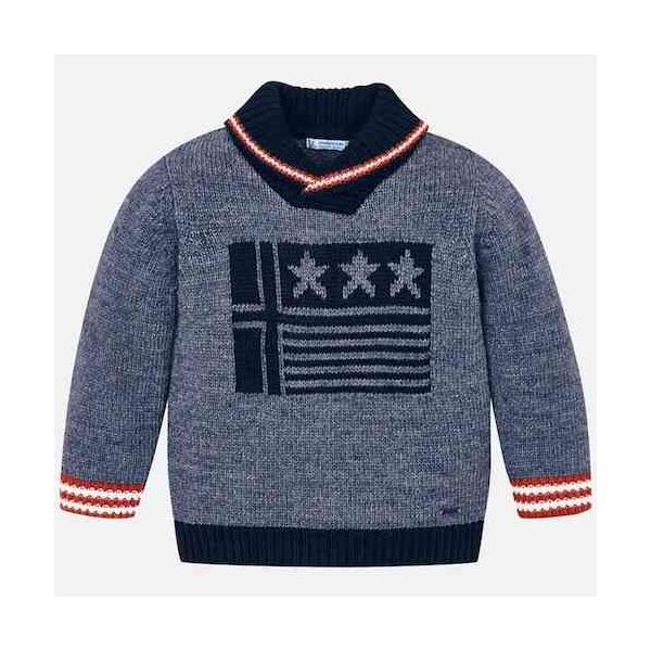 MAYORAL Boys Jumper knitted Navy Blue 4317-091