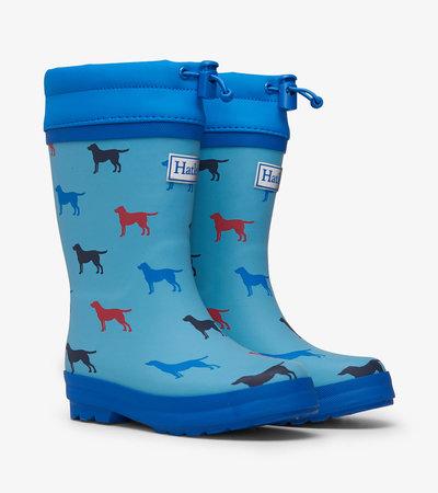 HATLEY Sherpa Lined Rain Boots Dogs