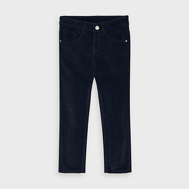 MAYORAL Boys Slim fit corduroy trousers Deep Blue 537-023