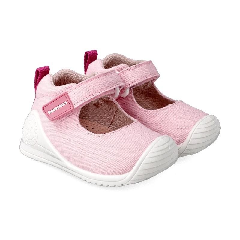 BIOMECANICS GIRLS Pink Canvas Mary Jane 202200-C